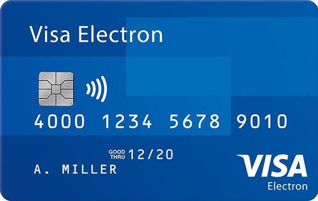 Visa Electron Debit Card Visa